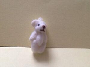 White Teddy Bear Dolls House Miniature Nursery Toy Shop