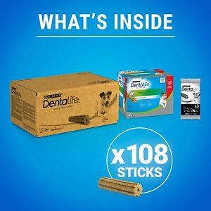 108 Chews Purina Dentalife Small Dog Dental Sticks Treat Tartar Plaque Oral Care