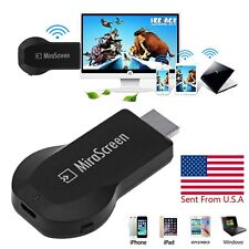 1080P MiraScreen WiFi Display Receiver AV TV Dongle DLNA Airplay Miracast H
