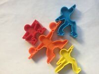 Toys Plastic Figures Red Yellow Blue Orange