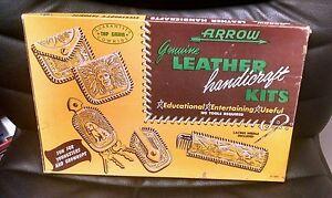 Arrow Genuine Leather Handicraft Kits, 1953, Nice,  Vintage