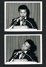 RARE (2) 1974 Muhammad Ali George Foreman press conf photos boxing Clay Cassius