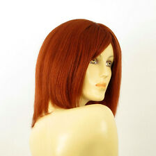perruque femme 100% cheveux naturel longue cuivré intense ref SEVERINE 130