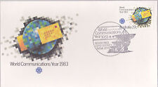 1983 World Communications Year FDC - Sydney NSW 2000 Pictorial PMK