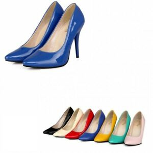 Casual Stilletos OL Party US13 Fashion Women Pointy toe Slip on Candy Color shoe