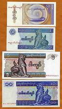 Myanmar / Burma, SET, 50;1;5;10, ND (1991-1998), UNC