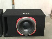 Car sub woofer in box  with amp and capacitor