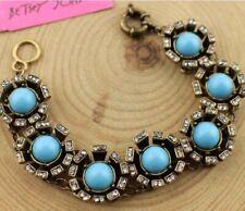 Hot Betsey Johnson Rhinestone European and American blue Fashion bracelet