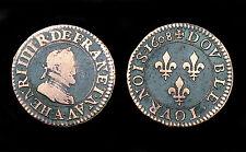 Double Tournois 1608 A (Paris) Henri IV°. Cuivre