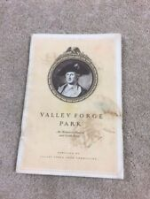 VINTAGE 1950 VALLEY FORGE PARK BOOK- PARK BOOKLET IN GOOD SHAPE - LOOK NOW- 56
