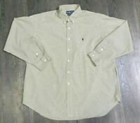 Ralph Lauren Mens Shirt Size XXL Blake Long Sleeve Tan/black