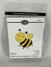 "SIZZIX Bee Happy Bumble Bee Embossing Die 1 3/4"" x 2"""