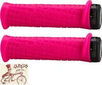 ODI TROY LEE LOCK-ON PINK BMX-MTB BICYCLE GRIPS