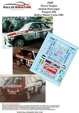 DECALS 1/43 REF 2187 PEUGEOT 104 TOUJAN RALLYE MONTE CARLO 1981 WRC RALLY