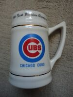 1984 East Division CHICAGO CUBS Baseball Champions BEER MUG Stein ROSTER BACK