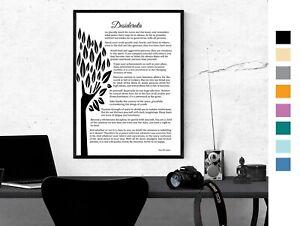 Desiderata Poem Max Ehrmann Inspirational Poem Poster Prints 5 sizes