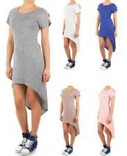 Stretchkleider mit Rundhals aus Polyester