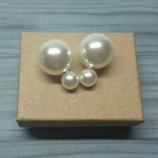 Monogrammed earrings. Double sided. Monogram Pearls. Unique Earrings.