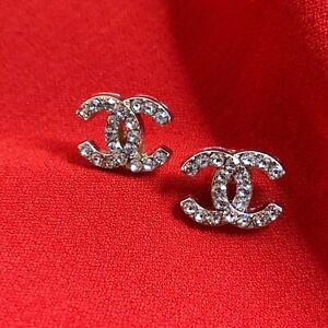 Chanel Crystal Buttons 2PC CC 18mm Vintage Style Buttons  AUTHENTIC!!!