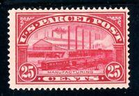 USAstamps Unused FVF US 1913 Parcel Post Manufacturing Scott Q9 OG MHR