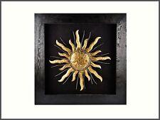 XXL Objekt SONNE hinter Glas 3D Effekt Wandbehang Bild modern 90 x 90 cm  -02-