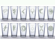 Game of Thrones House Pint Glasses ~Set 6 Pint Glasses~