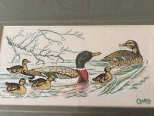 "Cash's Silk Woven Panel Mallard Family ""Canard Sauvage"" Engand"