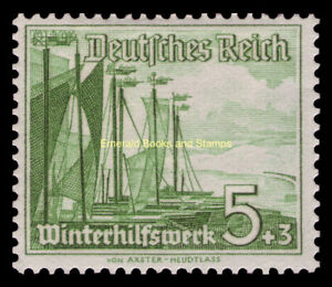 EBS Germany 1937 Ships: Fishing Boats - Schiffe - Michel 653 MNH**