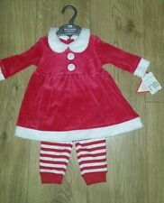 Mothercare Baby Girls Santa Dress/outfit 0-3 mths New Xmas