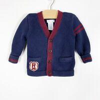 Polo Ralph Lauren Infant Baby Boy Varsity Cardigan Sweater Size 9 Months