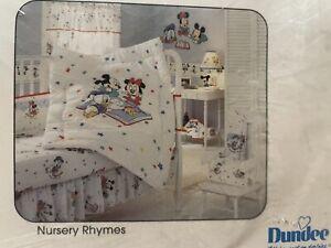 Vtg 80's NIP Disney Babies Standard Crib Skirt Dust Ruffle Nursery Rhymes Baby