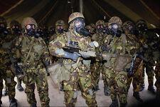 590076 tropas aliadas en química Gas Alert Guerra del Golfo A4 Foto Impresión