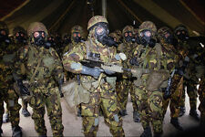 590076 le truppe alleate durante chimica GAS ALERT guerra del Golfo A4 FOTO STAMPA