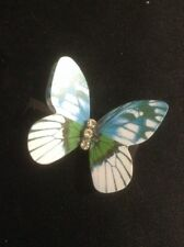 *Vintage Style Blue Butterfly Hair Clip*