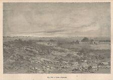 A2615 Cuca e dintorni - Veduta - Xilografia - Stampa Antica del 1895 - Engraving