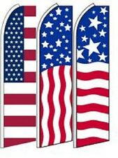 USA King Size  Swooper Flag Sign  W/Complete 3 Set