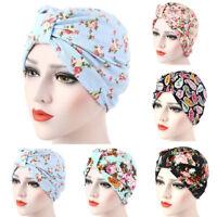 FJ- AM_ Women Muslim Stretch Turban Hat Cancer Chemo Cap Hair Loss Head Scarf No