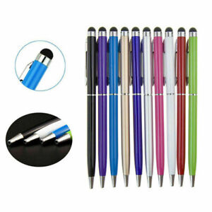 10x 2in1 Touchscreen Ballpoint stylus Pen For iPhone iPad Samsung Tablet Android