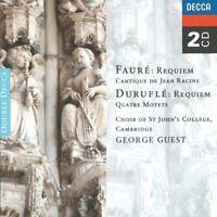 Faure - Requiem/Durufle/Requiem/Guest Df2 (NEW CD)