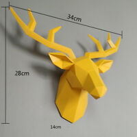 Home Statue Decoration Accessories 34x28x14cm Vintage Antelope Head Abstract