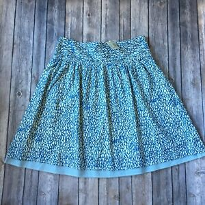American Eagle Skirt 0 XS New Boho Cotton A Line Full Fit Flare Print Tiered