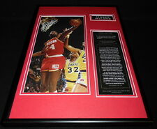 Moses Malone Framed 12x18 Photo Display Rockets