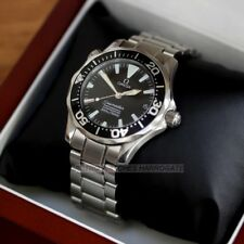 OMEGA Seamaster 300M Mid Size Automatic Chronometer Watch Black Wave Dial 36mm