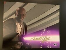 Samuel L Jackson Signed 11x14 Star Wars Photo Beckett BAS Mace Windu Marvel Fury