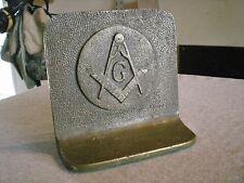 Vintage Masonic Bookend