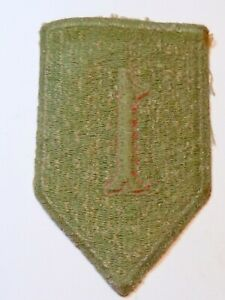 A   WW 2 U S Army 1st Division Cut Edge Green Back Patch