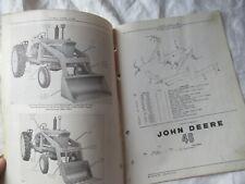 1965 John Deere 46 Farm Loader Parts Catalog Manual Book