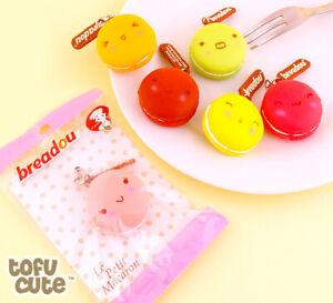 BUNDLE 3PCS SET NEW Breadou Macaron Squishy RED, ORANGE, AND YELLOW