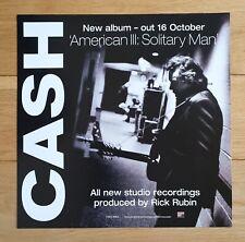 Johnny Cash Solitary Man Promo Poster Ultra Rare