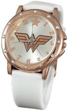 Wonder Woman WOW5006 White Rubber Watch w/ Rosegold Case